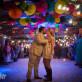 Last Kiss at Wedding Exit