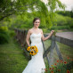 Bride by fence