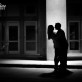 Silhouette of Couple at Austin Convention Center