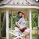 Couple under gazebo
