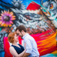 Engagement Couple by Mural