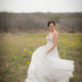 Bride in wilflowers swinging dress