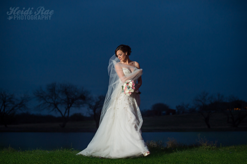 Mathis Texas Bride after Dark in Wedding Dress