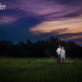 Engagement photo in front of Refugio sunset