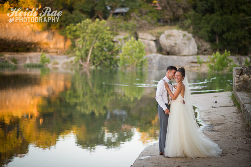 Cypress Falls Wedding Wimberley Texas Heidi Rae Photography