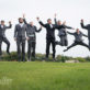 Groom and Groomsmen Jumping