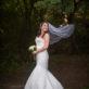 Bride tossing her veil