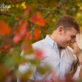 Ranch Engagement Photos Red Leaves