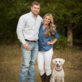 Couple with white lab