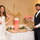 Bride and Groom with Groom Cake