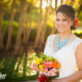 Bridal Portrait with Bouquet and Trees