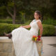 Bridal Photo with Cowboy Boots at Landa Library
