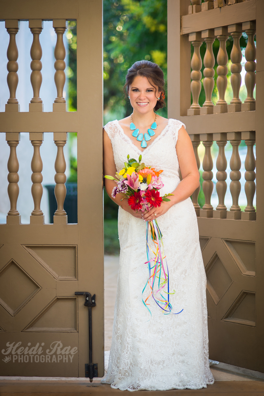 Landa Library Bridal Photo