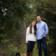 Husband and Wife Outdoor Portrait with dogs