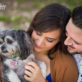 Engagement Photo with dog