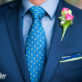 Grooms Tie and Boutonniere