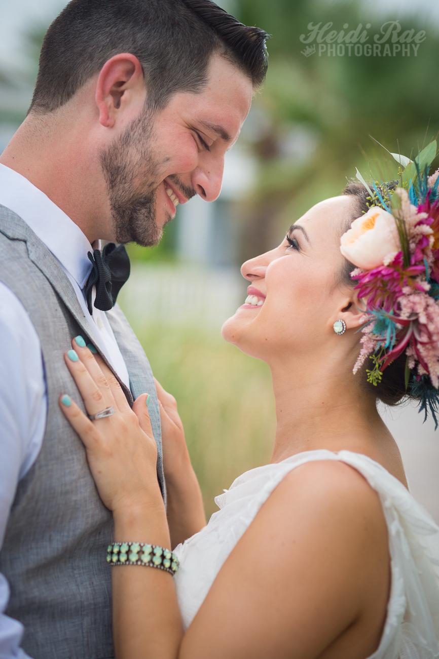 Bride and Groom Outidoor Portrait