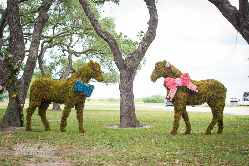 Large Topiary Horses