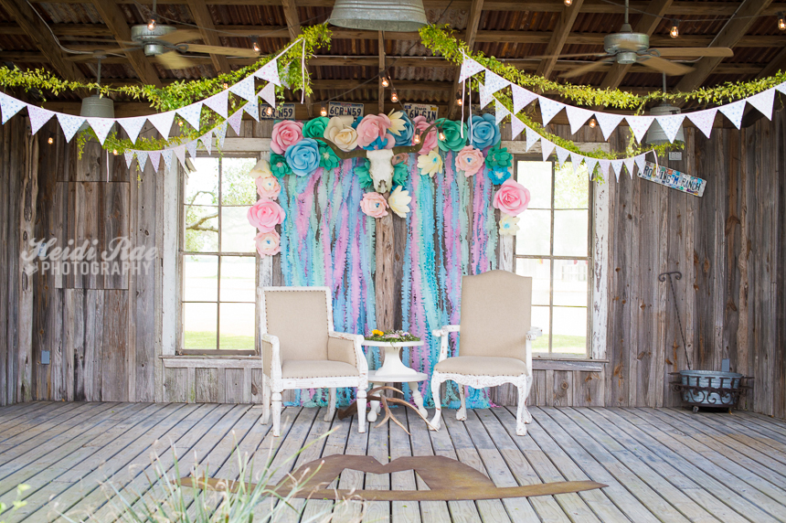 Gender Reveal Stage and Backdrop