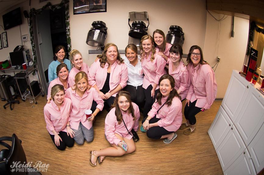 Bridal Party at Salon