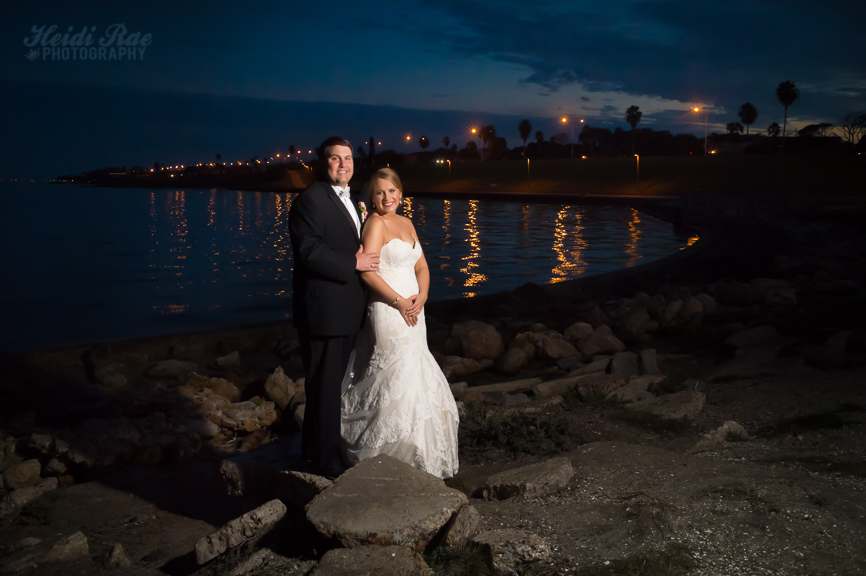 Bride and Groom portrait on the water